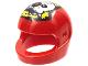 Part No: 2446pb34  Name: Minifigure, Headgear Helmet Motorcycle (Standard) with Red Eye Skull Pattern