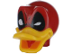 Part No: 24633pb03  Name: Minifigure, Head Modified Deadpool Duck Pattern