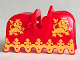 Part No: 2490px3  Name: Horse Barding, Ruffled Edge with Yellow Lions Pattern