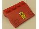Part No: 2513pb09  Name: Vehicle, Mudguard 3 x 4 Slope with Headlights and Ferrari Logo Pattern (Sticker) - Set 1256