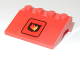 Part No: 2513pb10  Name: Vehicle, Mudguard 3 x 4 Slope with Fire Logo Badge Medium Pattern (Sticker) - Set 6525