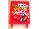 Part No: 2525pb004  Name: Flag 6 x 4 with 'Lightning McQueen 95' and Rust-eze Logo Pattern (Sticker) - Set 8486