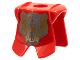 Part No: 2587pb06  Name: Minifigure, Armor Breastplate with Leg Protection, Santis Gold Bear Pattern