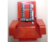Part No: 2717pb05  Name: Technic, Seat 3 x 2 Base with Red Cushions and Seat Belt Detailed Pattern (Sticker) - Set 8215