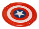 Part No: 27372pb07  Name: Duplo Utensil Disk with Red and White Rings and Captain America Star Pattern