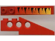 Part No: 2744pb002  Name: Technic Slope Long with Tiger Stripes and Yellow-up-to-Red Fade Pattern Left (Sticker) - Set 8229