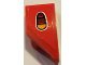 Part No: 29119pb001  Name: Wedge 2 x 1 with Stud Notch Right with Taillight Pattern (Sticker) - Set 75894