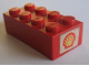 Part No: 3001oldpb09  Name: Brick 2 x 4 with Shell Logo I Pattern on Both Ends (Stickers)
