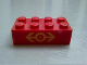 Part No: 3001pb066  Name: Brick 2 x 4 with Train Logo Yellow Pattern (Sticker) - Set 2150