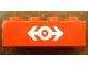 Part No: 3001pb067  Name: Brick 2 x 4 with Train Logo White Pattern (Sticker) - Set 4563