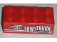 Part No: 3001pb097R  Name: Brick 2 x 4 with 'ED'S TOW TRUCK SERViCE' Pattern Model Right (Sticker) - Set 8195
