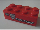 Part No: 3001pb098L  Name: Brick 2 x 4 with White 'FIRE CHIEF' and Silver Badge Pattern Model Left Side (Sticker) - Set 8154