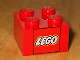 Part No: 3003pb012  Name: Brick 2 x 2 with Lego Logo in Red Square Pattern
