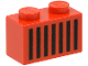 Part No: 3004p06  Name: Brick 1 x 2 with Black Grille Pattern