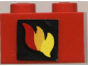 Part No: 3004pb024  Name: Brick 1 x 2 with Classic Fire Logo Pattern (Sticker) - Set 6685