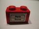 Part No: 3004pb066  Name: Brick 1 x 2 with 'Paris - Roma' Pattern (Sticker) - Set 164
