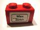 Part No: 3004pb067  Name: Brick 1 x 2 with 'Wien - Zürich' (Zurich) Pattern (Sticker) - Set 164