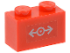 Part No: 3004pb088  Name: Brick 1 x 2 with Train Logo Gray Small Pattern (Sticker) - Set 7897