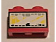 Part No: 3004pb094  Name: Brick 1 x 2 with Headlight Yellow Pattern (Sticker) - Set 8858-1