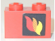 Part No: 3004pb170R  Name: Brick 1 x 2 with Classic Fire Logo Pattern Right Side (Sticker)