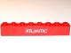 Part No: 3008pb113  Name: Brick 1 x 8 with White 'ATLANTIC' Pattern (Sticker) - Set 6542