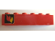 Part No: 3009pb043L  Name: Brick 1 x 6 with Classic Fire Logo Pattern Left (Sticker)