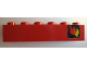 Part No: 3009pb043R  Name: Brick 1 x 6 with Classic Fire Logo Pattern Right (Sticker)