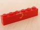 Part No: 3009pb074  Name: Brick 1 x 6 with Yellow Telephone Pattern (Sticker) - Set 2150