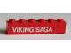 Part No: 3009pb140  Name: Brick 1 x 6 with White 'VIKING SAGA' Pattern (Sticker) - Set 1658