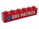 Part No: 3009pb222  Name: Brick 1 x 6 with White 'SKI PATROL' and Blue EMT Star of Life Pattern (Sticker) - Set 60203