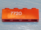 Part No: 3010pb010  Name: Brick 1 x 4 with White '7720' Pattern (Sticker) - Set 7720