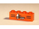 Part No: 3010pb013  Name: Brick 1 x 4 with Black Stripes and Tow Truck Pattern