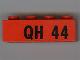 Part No: 3010pb034  Name: Brick 1 x 4 with Black 'QH 44' Pattern