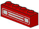 Part No: 3010pb035u  Name: Brick 1 x 4 with Car Grille Chrome Pattern (Undetermined Type)