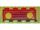 Part No: 3010pb043  Name: Brick 1 x 4 with Car Grille Black and Yellow Headlights Pattern (Sticker) - Set 379-1