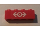 Part No: 3010pb051  Name: Brick 1 x 4 with Train Logo White Pattern (Sticker) - Set 4551