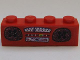 Part No: 3010pb098  Name: Brick 1 x 4 with Radio Pattern (Sticker) - Set 3142