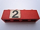 Part No: 3010pb135  Name: Brick 1 x 4 with Black Number 2 on White Background Pattern (Sticker) - Set 148
