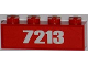 Part No: 3010pb155  Name: Brick 1 x 4 with White '7213' Pattern (Sticker) - Set 7213