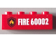 Part No: 3010pb162  Name: Brick 1 x 4 with Fire Logo and 'FIRE 60002' Pattern (Sticker) - Set 60002