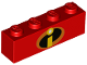 Part No: 3010pb231  Name: Brick 1 x 4 with Incredibles Symbol Pattern