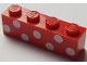 Part No: 3010pb245  Name: Brick 1 x 4 with 7 White Polka Dots Pattern