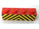 Part No: 3010pb293  Name: Brick 1 x 4 with Black and Yellow Danger Stripes Pattern (Sticker) - Sets 7720 / 7760