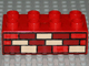 Part No: 3011pb035  Name: Duplo, Brick 2 x 4 with Red, Dark Red and Tan Bricks Pattern