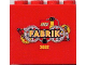 Part No: 30144pb002  Name: Brick 2 x 4 x 3 with LEGO Fabrik 2002 Pattern