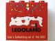 Part No: 30144pb009  Name: Brick 2 x 4 x 3 with Legoland Deutschland 1 Year Birthday (Zum 1. Geburtstag) Pattern