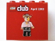 Part No: 30144pb010  Name: Brick 2 x 4 x 3 with Lego Club, April 2003 and Johnny Thunder Pattern