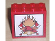 Part No: 30144pb019  Name: Brick 2 x 4 x 3 with Fire, 2 Axes and Red Helmet Pattern