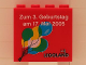 Part No: 30144pb022  Name: Brick 2 x 4 x 3 with Legoland Deutschland 3 Year Birthday (Zum 3. Geburtstag) Pattern