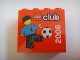 Part No: 30144pb029  Name: Brick 2 x 4 x 3 with LEGO Club 2006 and Soccer Player Pattern